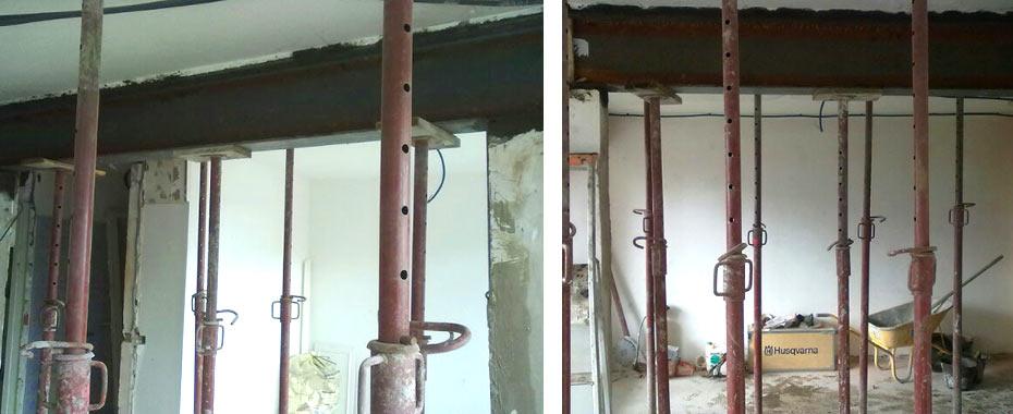 Modification d ouverture r novation habitat la baule for Construction mur porteur